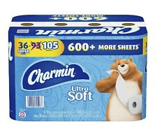 Charmin Ultra Soft Toilet Paper (208 sheets per roll, 36 Super Rolls).