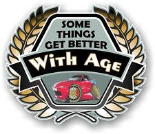 Koolart Crest BETTER WITH AGE Slogan & Mazda MX-5 Eunos Roadster Car Sticker