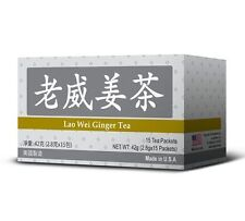 Lao Wei Ginger Tea Helps Increase Energy and Antioxidant Level Made in USA