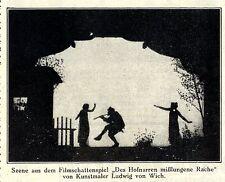 Volkserziehung und Lichtspiel (Filmschattenspiel) Historischer Aufsatz von 1921
