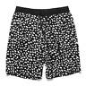 Forever 21 Medium Black White Dalmatian Spots Spotted Print Drawstring Shorts