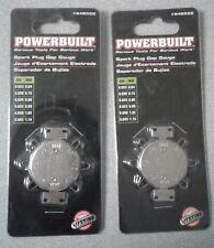 LOT OF 2 NEW POWERBUILT SPARK PLUG GAP GAUGES 648522 LIFETIME WARRANTY