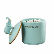 Resin Elephant Cotton Swab Box Toothpick Cosmetics Storage Boxes Home Decor Gift