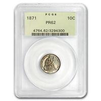1871 Liberty Seated Dime PR-62 PGCS - SKU#181436