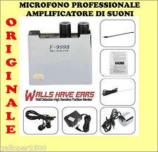 MICROFONO FULL PROFESSIONALE SPY MURO PARETE  SOFFITTO PAVIMENTO PROFESSIONISTI