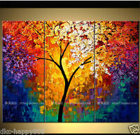 OIL PAINTING MODERN ABSTRACT WALL DECOR ART CANVAS (no frame)3PC