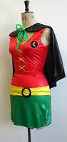 Sale! Robin Batman Superhero Costume Cape Leg Avenue Comic Strip S M 8 10 12