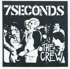 7 SECONDS the crew CLOTH SEW-ON PATCH **FREE SHIPPING** punk seven 7seconds