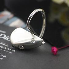 Fashion Crystal Heart Love Mouse Keychain Key Chain Ring Keyring Key Fob 86405