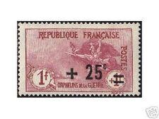 "FRANCE 1922 Y&T 168 ""ORPHELINS +25c s.1+1F"", NEUFxx TTB"