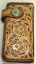 HANDMADE WESTERN INDIAN GENUINE COWHIDE LEATHER LEATHER WALLET BIKER NEW COWBOY