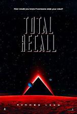 1990 TOTAL RECALL  ADVANCE TEASER ORIGINAL MOVIE POSTER  ONE SHEET