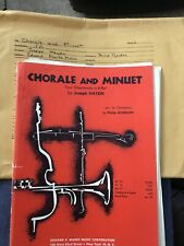 CHORALE AND MINUET - ORCHESTRA -SHEET MUSIC