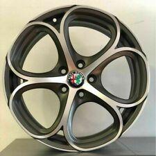 """KIT 4 Cerchi in lega Alfa Giulietta 18"""" + GOMME 225/40R18 PIRELLI PZERO NERO GT"""""""