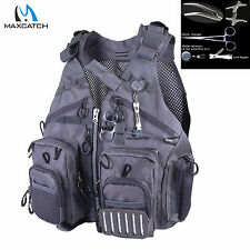 Adjustable Outdoor Fly Fishing Mesh Vest Sport Fishing Vest & Forcep & Nipper