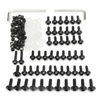 158x Black Fairing Bolts Kit Fastener Clips Screws for Motorcycle Sportbike^&#