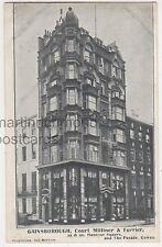 Gainsborough Court Milliner & Furrier Shop, Hanover Square London Postcard B759