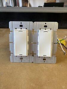 2 Control4 Control 4 Wireless Dimmer LDZ-102P10-W LDZ 102 W White