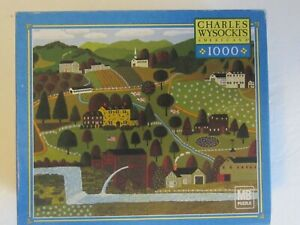 Charles Wysocki APPLEJACK VALLEY 1000 pc. Puzzle Complete