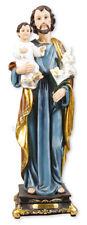 "Saint Joseph with Jesus - 12"" Florentine Resin Statue - Beautiful Religious Gift"