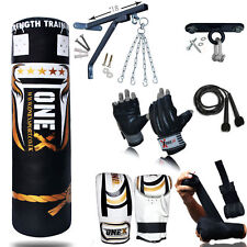 NEW 3-4-5 FT Filled Heavy Punch Bag Buyer Build Set,Chains,Bracket,Gloves,MMA