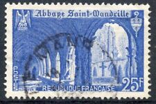 STAMP / TIMBRE FRANCE OBLITERE N° 842 ABBAYE DE SAINT-WANDRILLE