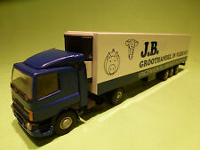 LION CAR 1:50 DAF 75CF TRUCK + TRAILER - JB GROOTHANDEL IN VLEES  -  VERY GOOD