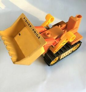 1979 Fisher Price Husky Helper Dozer Loader Bulldozer #329 Construction