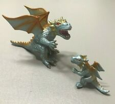 """2006 ELITE DRAGON With Matching Baby Silver Toy Major Trading Co. RARE 7"""" Figure"""