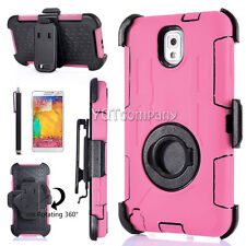 Samsung Galaxy Note 3 Case Screen Protector Shockproof Hybrid Belt Clip Cover