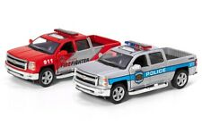 """Chevrolet Silverado US 911 Police or Fire Fighter 5"""" inch car toy, opening parts"""