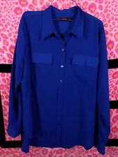 Apartment Apt. 9 Blue Dressy Button-Up Long-Sleeve Work Shirt - Size XL NEW