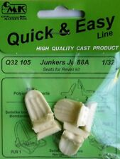 CMK 1/32 Junkers Ju88A Seats for Revell # Q32105