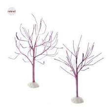 Department 56 Purple Sparkle Bare Branch Trees - Set of 2 #4054269 Free Shipping