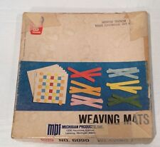 Vintage Ideal Weaving Mats No. 6090 Pre School Weave Day Care Educational Toy