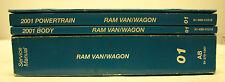 OEM 2001 Chrysler Dodge Ram Van/Wagon Service Repair Manuals - 4 Volume
