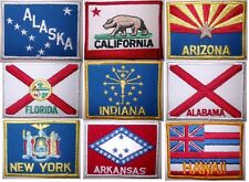 Patch écusson brodé à coudre drapeau état US