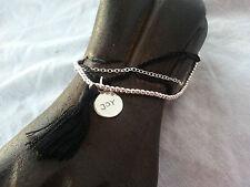 Love Adjustable Charm Bracelet Ball Chain Balinese 925 Silver Bead Pendant Joy