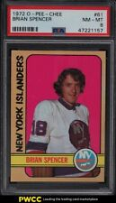 1972 O-Pee-Chee Hockey Brian Spencer #61 PSA 8 NM-MT
