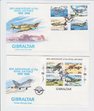 gibraltar 1998 royal air forceSc 755/9 set on FDC         l1229
