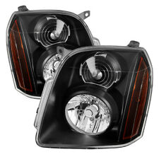 GMC 07-14 Yukon / Yukon XL 1500 2500 Black Housing Replacement Headlights Pair