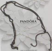 PANDORA | Sterling Silver Black Rhodium Necklace Concept Chain: 591007BR-80