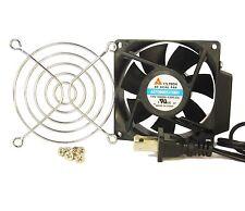 80mm 25mm New Case Cabinet Fan 110 115 120V AC & Finger Guard Ball Cooling 427*
