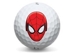 1 Dozen (Spiderman Logo) Titleist DT TRU Soft / AAAAA Golf Balls