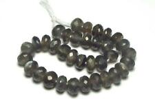 "7"" Strand BLACK MOONSTONE 8mm Faceted Rondelle Beads NATURAL"