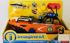 NIB Fisher-Price Imaginext Deep Sea Turbo Rescue Boat Barracuda Toy