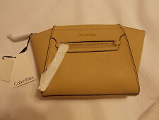 Calvin Klein cornflower Nude H4AG12KD clutch handbag make up $148. Saffiano NEW