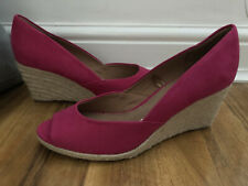 Womens Next forever comfort Bright Pink Wedges With Peep Toe Size 6 BNWT