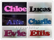 Personalised wooden name plaque childs door wall signs letters gift 99p a letter