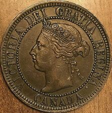 1892 CANADA LARGE CENT PENNY COIN - Obverse #4 variety - Excellent example!